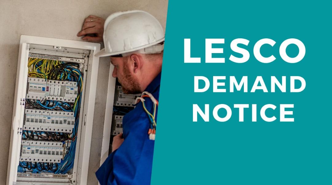 How To Check LESCO Demand Notice