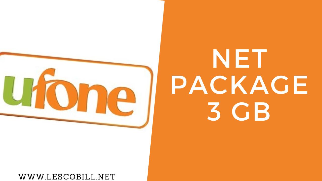 Ufone Net Package 3 GB