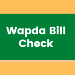 Wapda Bill Check | Get Lesco Wapda Bill
