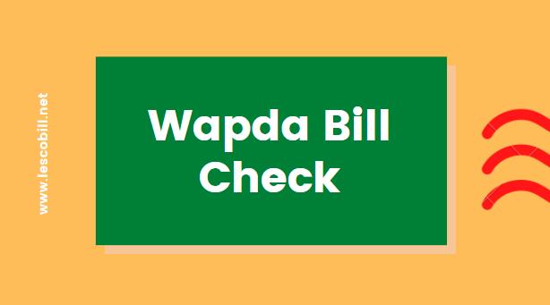 Wapda Bill Check
